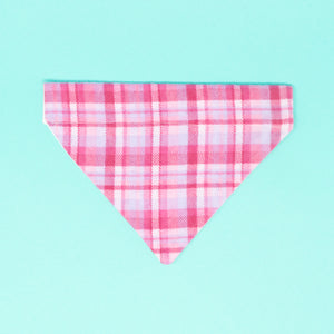 Pink Plaid Dog Bandana - The Woof Warehouse