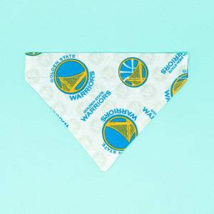Golden State Warriors Dog Bandana - The Woof Warehouse