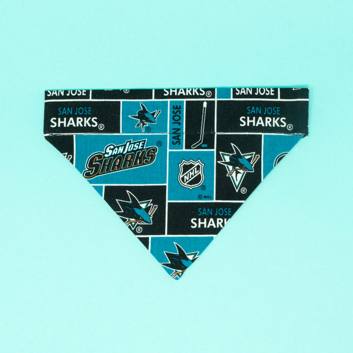 San Jose Sharks Dog Bandana - The Woof Warehouse