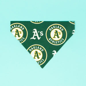 Oakland A's Dog Bandana - The Woof Warehouse