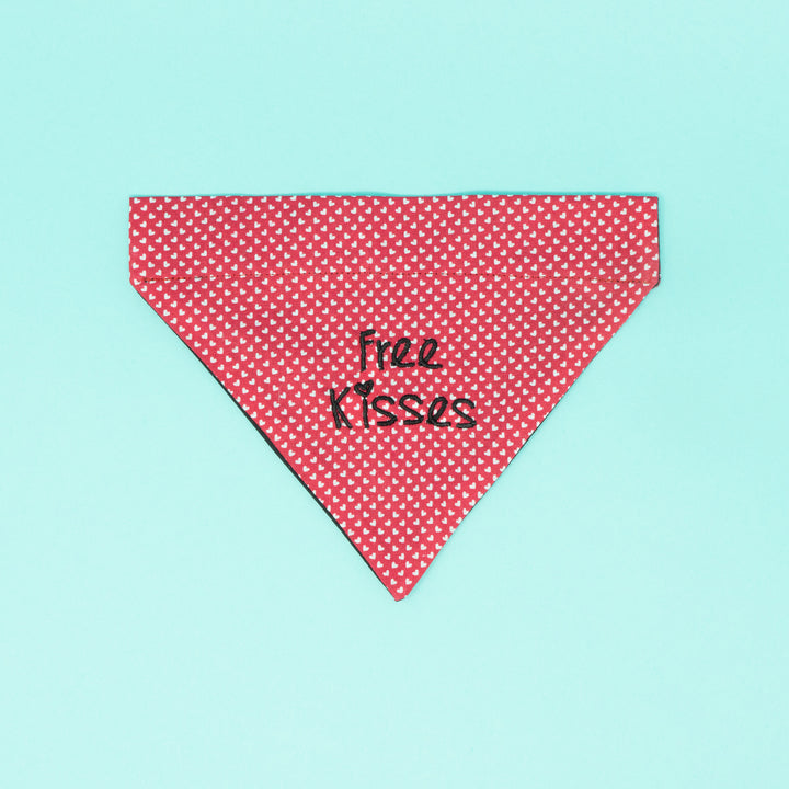 Free Kisses Valentines Dog Bandana - The Woof Warehouse