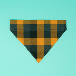 Orange and Black Buffalo Plaid Halloween Dog Bandana - The Woof Warehouse