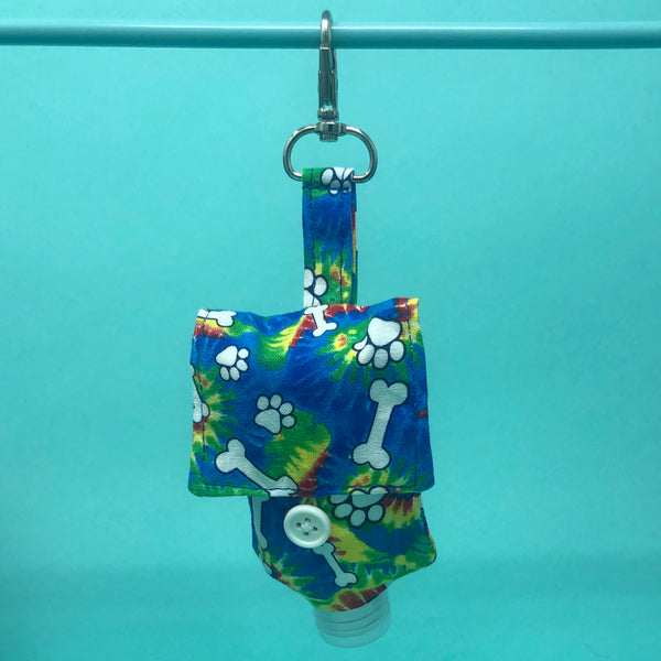 Travel Hand Sanitizer Holder with Refillable Bottle - The Woof Warehouse