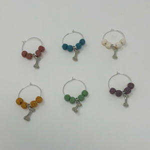 Dog Bone Wine Glass Charms - The Woof Warehouse