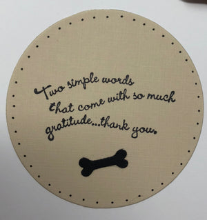 Cards- Hand Stamped - The Woof Warehouse