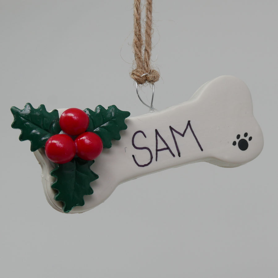 Personalized Dog Bone Ornament - The Woof Warehouse