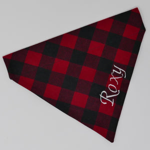 Embroidered Personalized Dog Bandanas - The Woof Warehouse