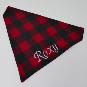 Embroidered Personalized Dog Bandanas