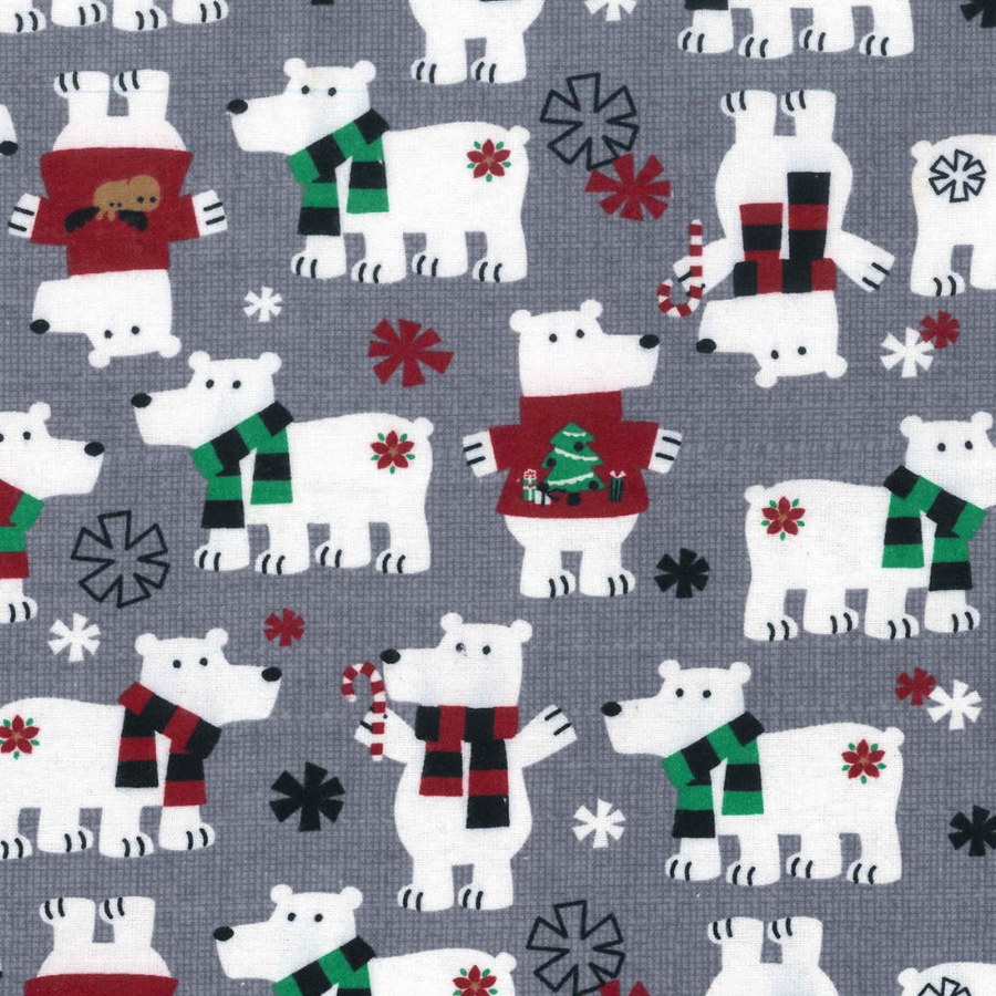 Polar Bears in Sweaters Pajama Lounge Wear Pants - The Woof Warehouse