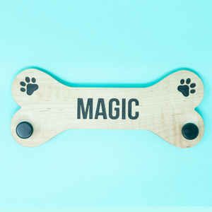 Bone Dog Leash Holder- Personalized - The Woof Warehouse