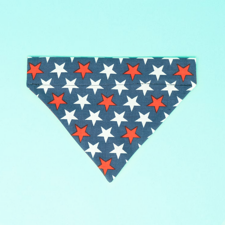 Red, White, and Blue Stars Dog Bandana - The Woof Warehouse