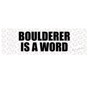 BOULDERER Sticker- Pack of 5