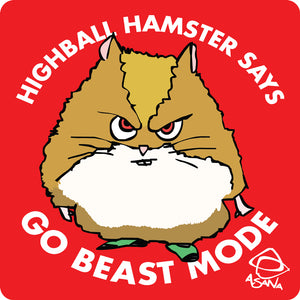 Highball Hamster Sticker 5-pack