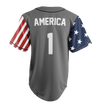 Limited Edition Grey America #1 Jersey - Keep America American
