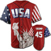 Red Trump #45 Baseball Jersey - Greater Half