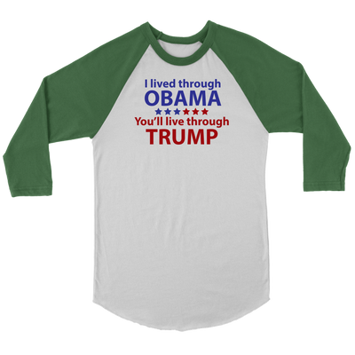 Survived Obama Raglan Long Sleeve