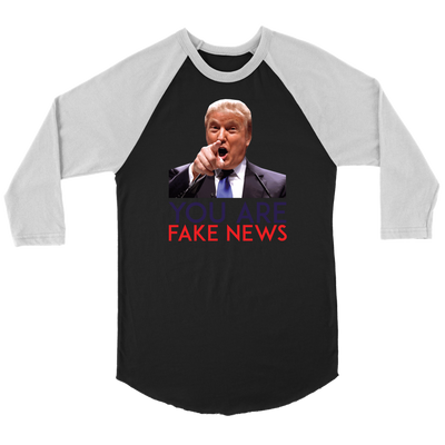 Fake News Raglan Long Sleeve