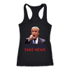 Fake News Racerback Tank