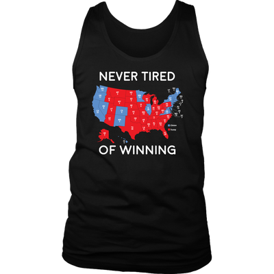 Never Tired Of Winning Mens Tank