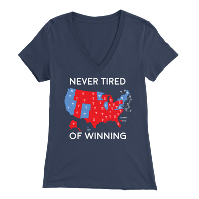 Never Tired Of Winning V-Neck