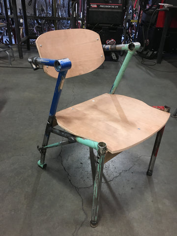 Eric Blanpied Furniture - Bike Z Chair In Progress