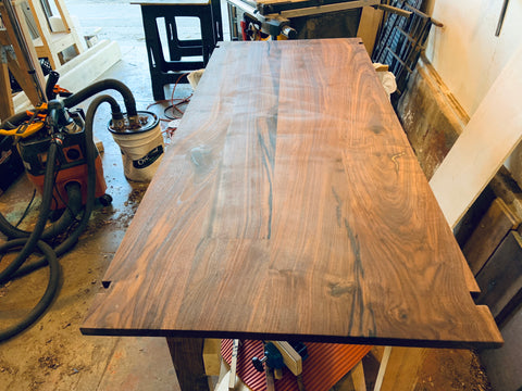 Eric Blanpied Furniture - Arc Trestle Table - Top Production