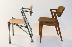 Eric Blanpied Furniture - Bike-Z Chair, Bicycle Frames and Bent Plywood - Kai Kristiansen Side by Side