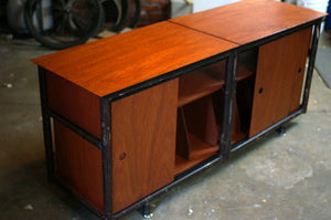 Eric Blanpied Furniture - Stereo Console, Plywood & Recycled Steel
