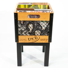 Eric Blanpied Furniture - Single Record Crate Unit - Cherry w/ Blackened Steel