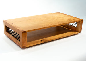 Eric Blanpied Furniture - Modular Record Crate Console, Wood & Steel - Box Top Detail