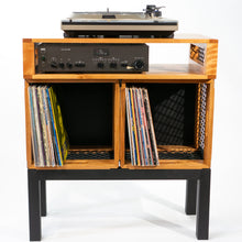 Eric Blanpied Furniture - Modular Record Crate Console, Wood & Steel