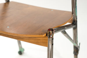 Eric Blanpied Furniture - Bike-Z Chair, Bicycle Frames and Bent Plywood - Detail