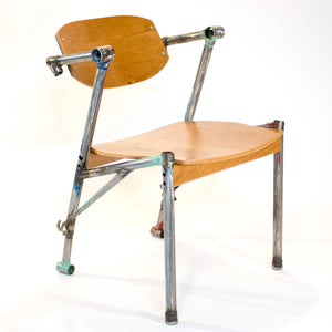 Eric Blanpied Furniture - Bike-Z Chair, Bicycle Frames and Bent Plywood