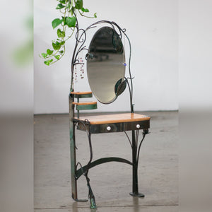 Eric Blanpied Furniture - Magical Vanity, Steel & Curly Cherry