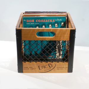 Eric Blanpied Furniture - Record Crate, Cherry w/ Blackened Steel
