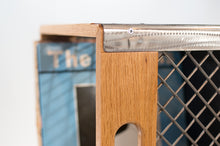 Eric Blanpied Furniture - Record Crate, Oak & Steel Detail