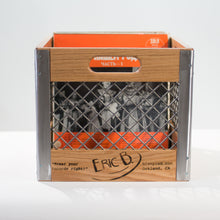 Eric Blanpied Furniture - Record Crate, Oak w/ Shiny Steel