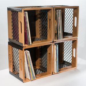Eric Blanpied Furniture - Four Record Crates Stacked