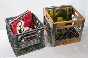 Record Crate, Wood & Steel
