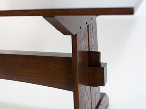 Trestle Table, Dark Oak