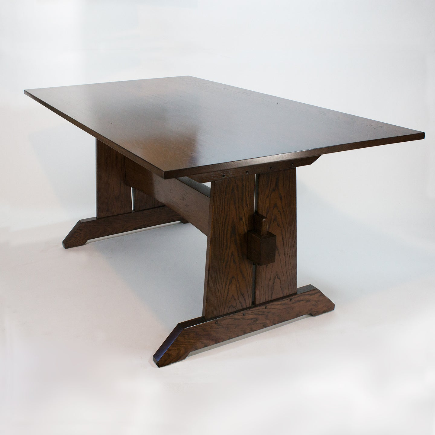 Eric Blanpied Furniture - Trestle Table, Dark Oak