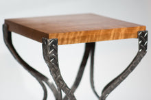 Eric Blanpied Furniture - X Table, Curly Cherry & Steel - Detail