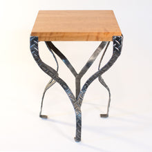 Eric Blanpied Furniture - X Table, Curly Cherry & Steel