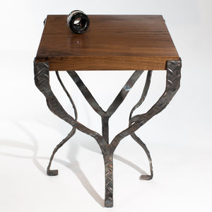 Eric Blanpied Furniture - X Table, Walnut & Steel
