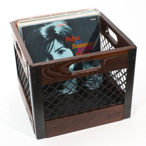 Eric Blanpied Furniture - Record Crate, Dark Ash w/ Blackened Steel