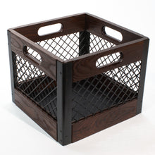 Eric Blanpied Furniture - Record Crate, Dark Ash & Steel