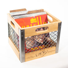 Eric Blanpied Furniture - Record Crate, Light Ash & Steel