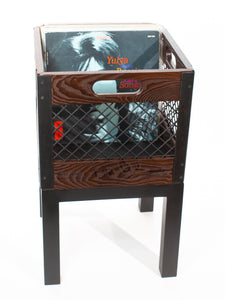 Eric Blanpied Furniture - Single Record Crate Unit - Dark Ash w/ Blackened Steel