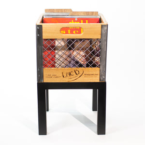 Eric Blanpied Furniture - Single Record Crate Unit - Light Ash w/ Shiny Steel