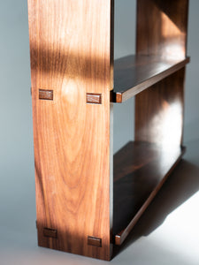 Eric Blanpied Furniture - Medium Open Bookcase, Walnut - Detail